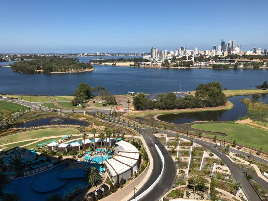 Burswood, Australia: The view from Crystal Club, with my favourite thing... The Pool :)