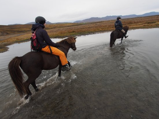 Varmahlid, Iceland: River crossing
