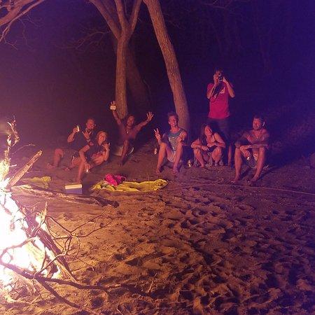 Single Fin Surf Charters: Last night big bonfire
