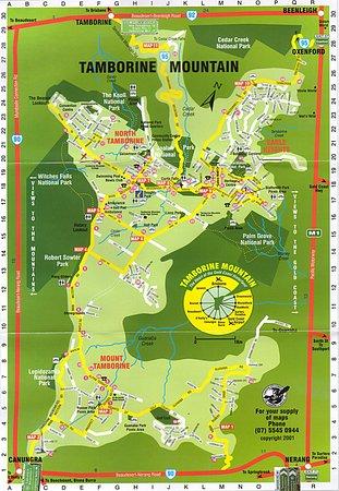 North Tamborine, Australia: Plan des lieux et des promenades à effecteur.