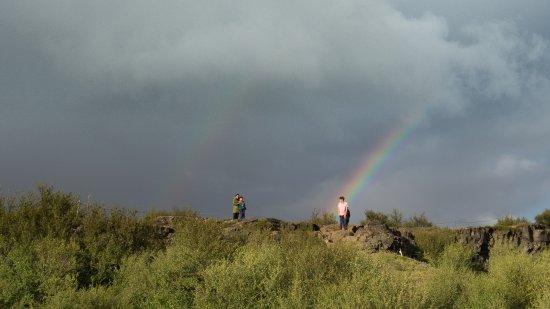 Husafell, Islândia: Doble arco iris...