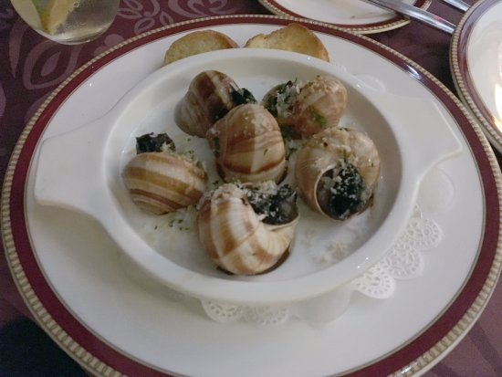 Secrets Maroma Beach Riviera Cancun: Escargot anyone?