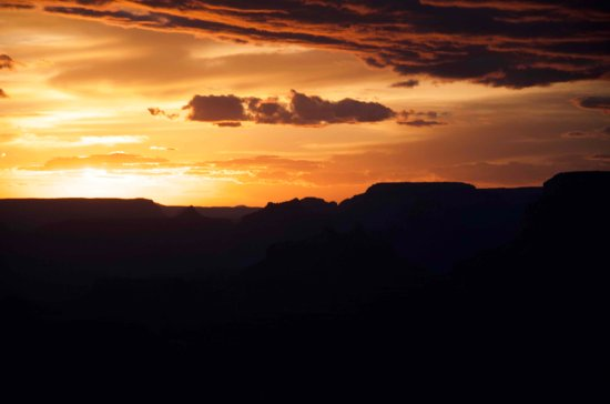 Tusayan, AZ: Sunset at the Grand Canyon