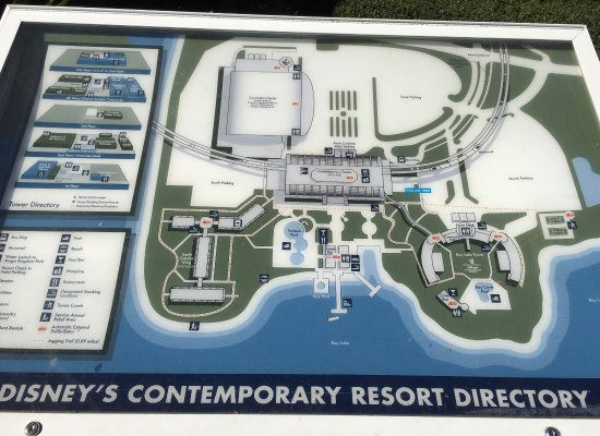 Map Of The Resort The Garden Wing Is Near The Feature Pool Picture Of Disney 39 S Contemporary