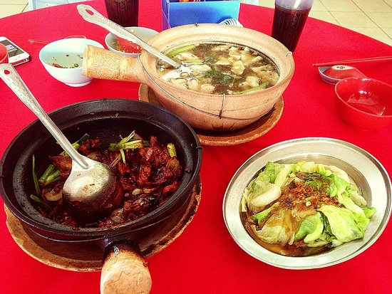 Kajang, Malaysia: Hot Soup,Spicy Meat,Sang Choi