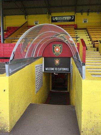 Coatbridge, UK: Players tunnel