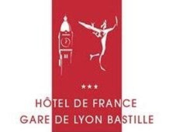 Hotel de France Gare de Lyon Bastille: Logo de l'Hôtel de France***