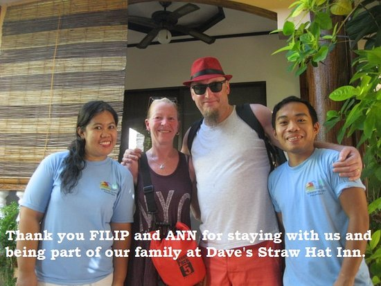 Dave's Straw Hat Inn: goodbye gift from the sweet staff... :D