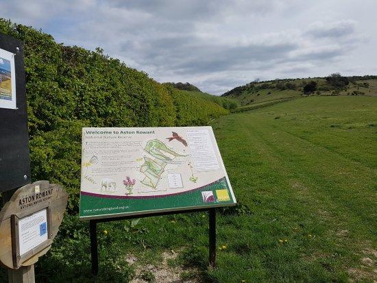 Aston Rowant, UK: Nature Reserve information board