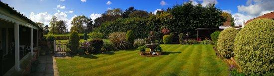 Fritton, UK: Panorama of gardens.