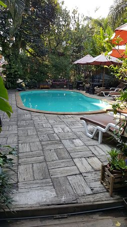 Log Home Boutique Hotel: Pool