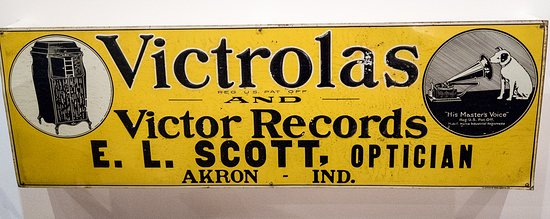 Johnson Victrola Museum: Even the optitian is selling them!
