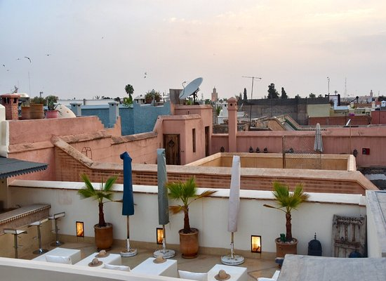 Riad Adore: Up on the the rooftop terrace