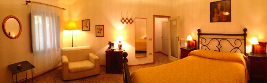 Montaione, İtalya: The bedroom of apt. Andreina