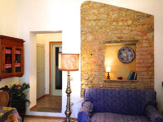 Montaione, Italia: The living area of apt. Andreina