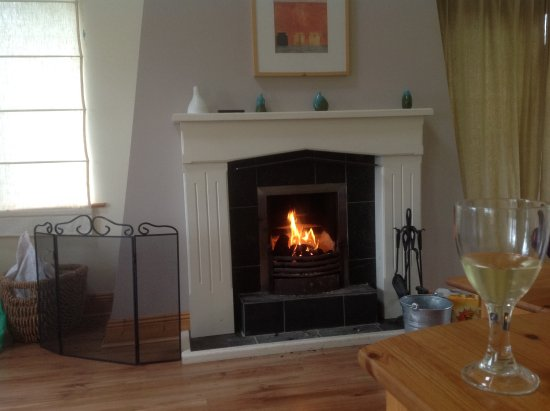 Leitrim, Irlandia: Nice open fire in cottage 8