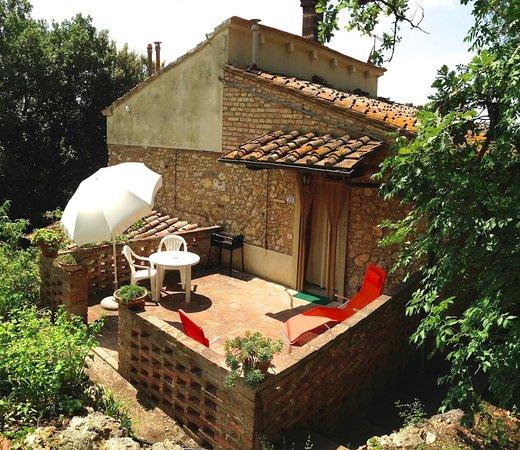 Montaione, Italia: The groundfloor terrace of apt. Andreina