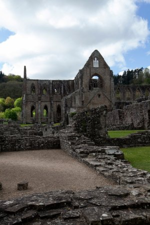 Chepstow, UK: Shows the scale of the abbey