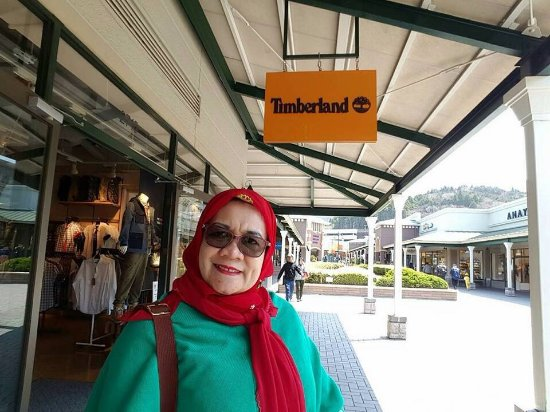 Di depan outlet Timberland , Gotemba Premium. Outlets
