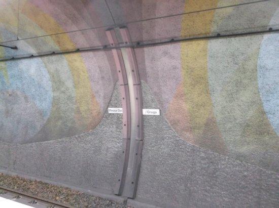 Grugapark Essen: Im U-Bahntunnel.