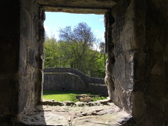 Kinross, UK: View of walls from inside tower