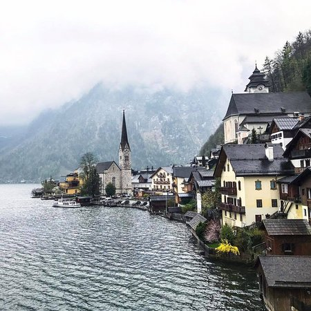 Obertraun, Austria: a postcard view