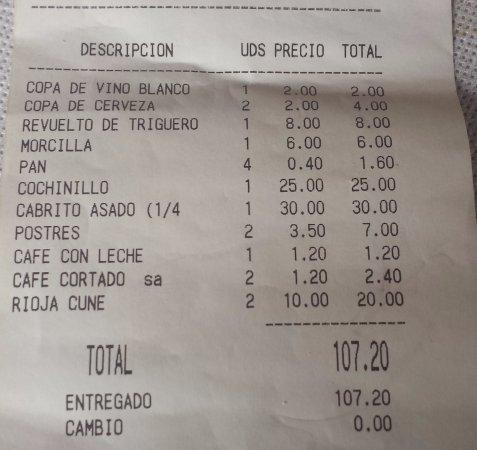 Valdemanco, España: cuenta por 4 personas