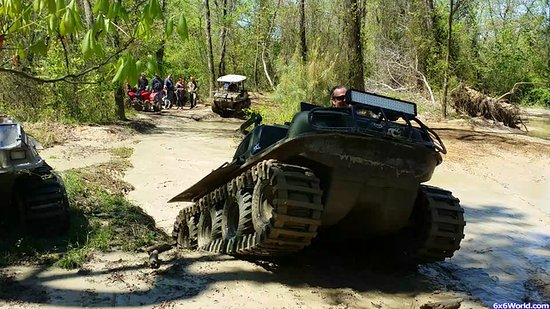 Busco Beach & ATV Park: Showing off in a mud hole, are group loves BB