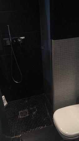 """Fred Hotel: Chambre standard, coin """"toilette,sdb"""" assez étroit.... une chambre un peu petite MAis agréable."""