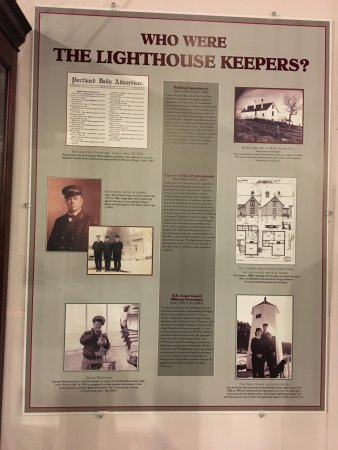 Maine lighthouse museum is small, but packed full of history to view. We watched a lifesaving vi