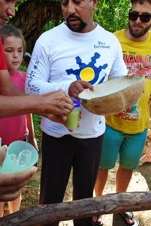Bayahibe, Dominikana: Dégustation de jus de canne à sucre