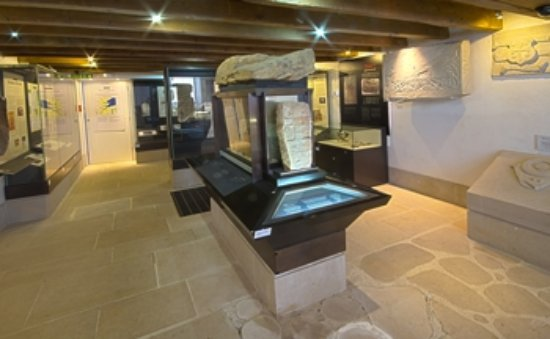 Portmahomack, UK: The 'Treasury' containing stunning Pictish carvings and artwork.