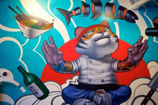 Culver City, Kaliforniya: The Ramen Roll Buddha Cat!