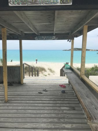 Out Islands: Shack on Tropic of Cancer Beachn