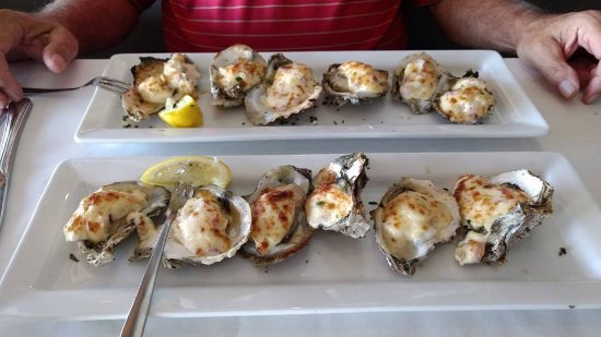 Parmesan Baked Oysters At Harborside Restaurant In Winter Haven Fl