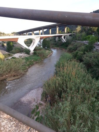 Martorell, Spain: A muddy river down there.