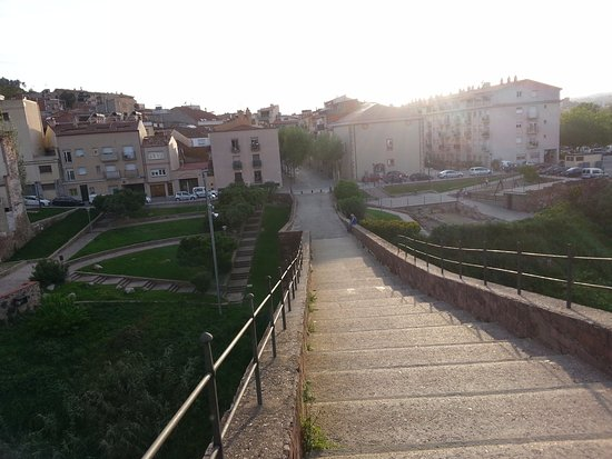 Martorell, Spain: The shape of the bridge resembles an arch with both side a steep stairway.