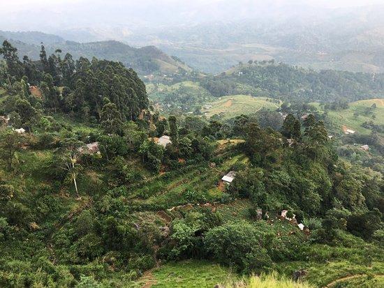Bambarakanda Falls: views on the way