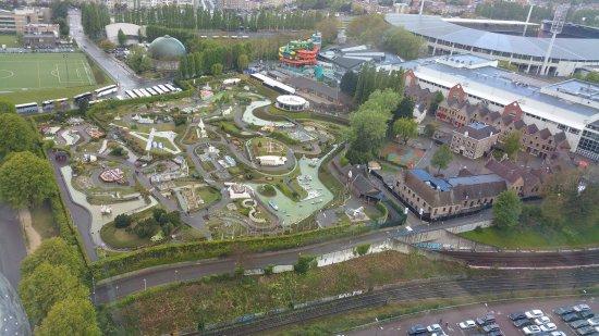Restaurant de L'Atomium : vue sur mini Europe