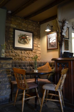 The Somerset Wagon: our cosy table next to the real log fire