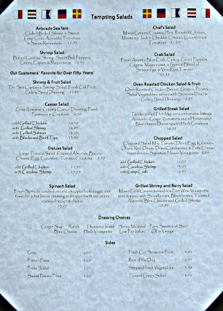 Sea Captain S House Menu