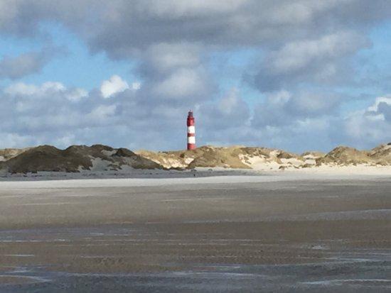 Amrum, Germany: Strand und Leuchtturm ...
