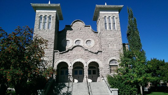 Rexburg, ID: Front of rthe Historic Tabernalce where the Museum is located in the basement