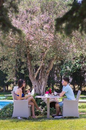 Torroella de Fluvia, Spanien: Desayunos en el jardín