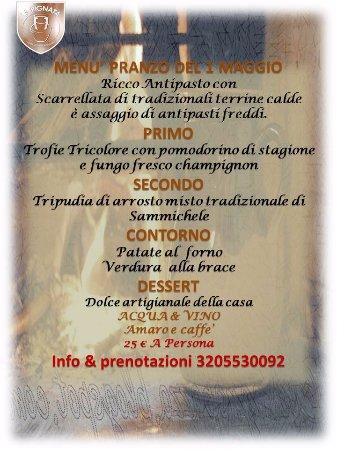 Sammichele di Bari, Italien: Pranzo del 1 maggio  info & prenotazioni 3205530092