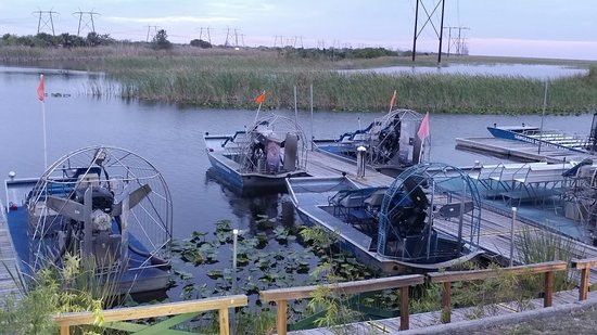 Weston, FL: Some of the airboats for smaller tours