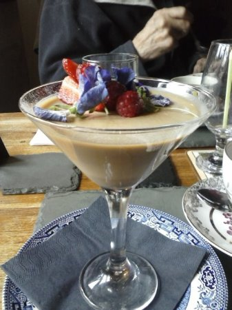 Winkleigh, UK: Coffee pannacotta, Mmmm rather good. NO I didn't share!