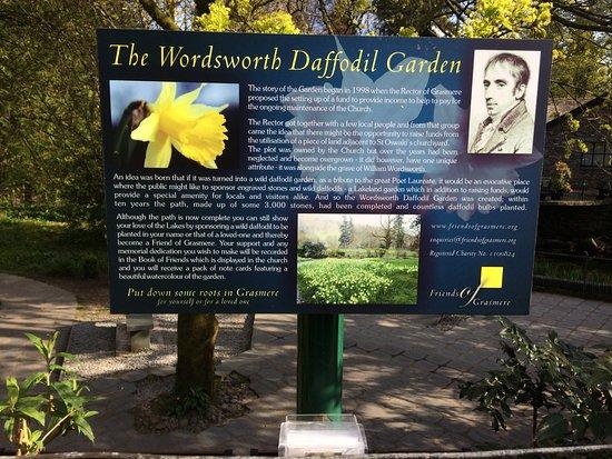 Grasmere, UK: Wordsworth Daffodil Garden