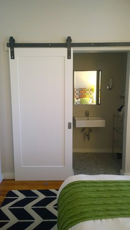 The Attwater: (I just really loved the barn-style door to the bathroom...)