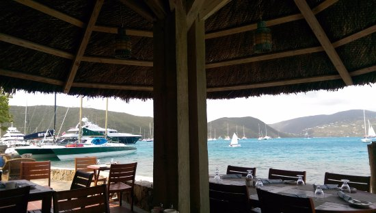 North Sound, Virgen Gorda: View from main dining area